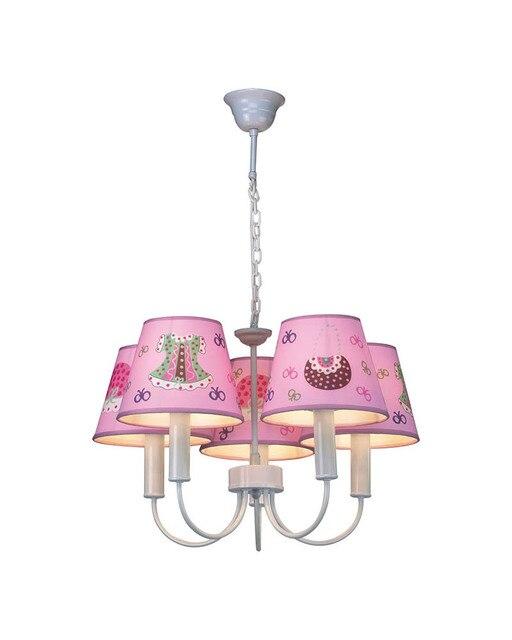 5 Lichter Niedlich Cartoon Mädchen Kleid Thema Rosa Kronleuchter Lampe  Schlafzimmer FÜHRTE Licht Für Kinderzimmer MD91375