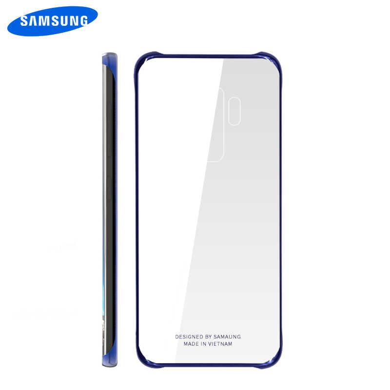 الرسمية الأصلي سامسونج S10 حالة صدمات غطاء HD شفافة واضحة التصفيحات الصلب PC غالاكسي S8 S9 S10 زائد S10e عودة حالة