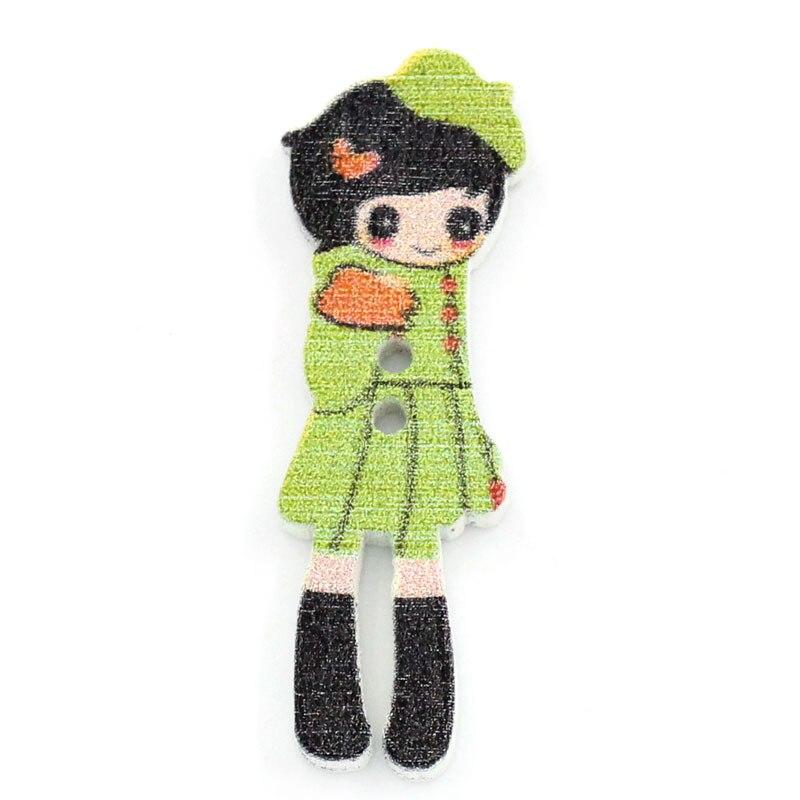 ᗛDoreenbeads madera Costura Botones scrapbooking Girl multicolor 2 ...