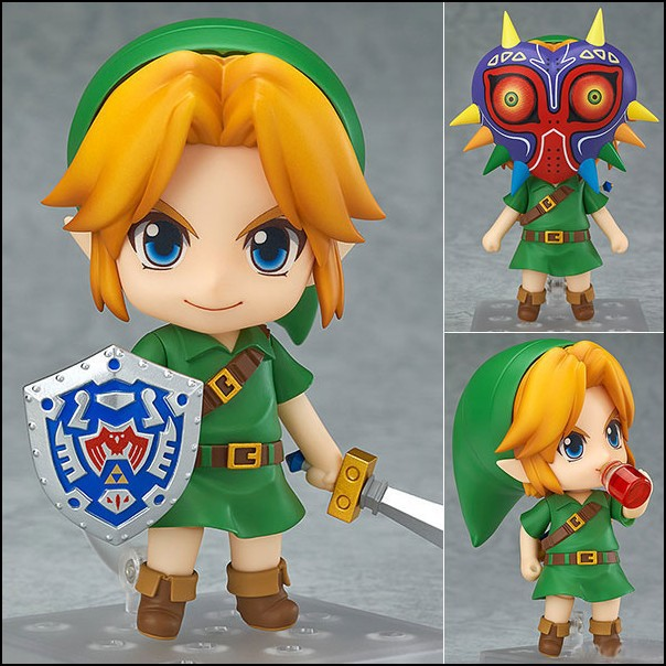 The Legend of Zelda Link Nendoroid Majora's Mask Game Legend of Zelda PVC Figure 10CM Q Ver. Zelda Link Nendoroid Toy Doll  nendoroid the legend of zelda link majora s mask 3d figure with original box