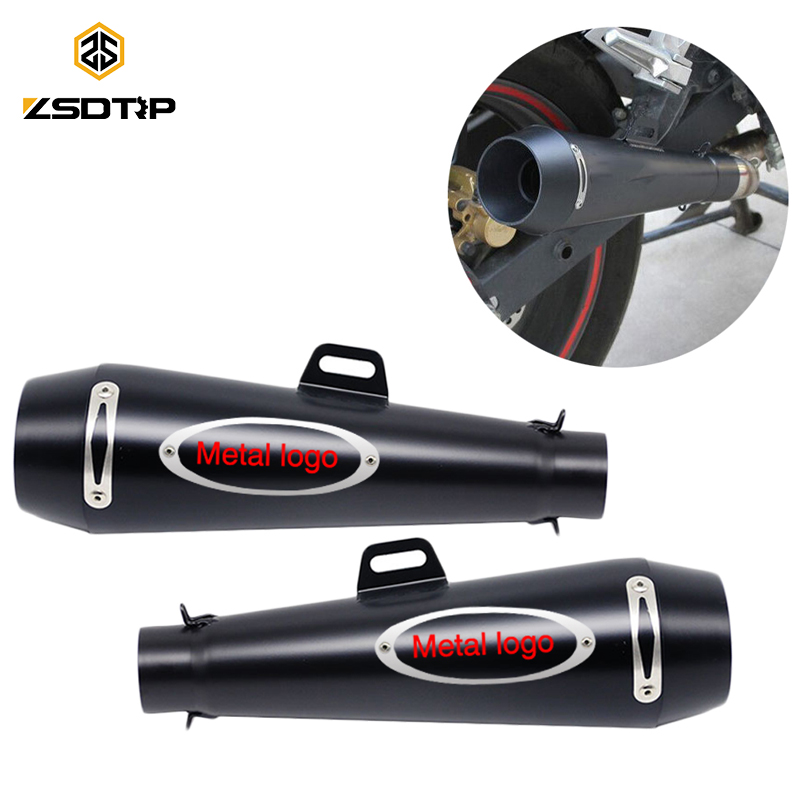 ZSDTRP 51MM Motorcycle Scooter M4 Exhaust Muffler Moto Escape GP Pot Silencer For Most Motocross Dirt Bike Cross ATV Slip on gloss black front dual line grille grill for bmw f20 f21 1 series 118i 2010 2011 2012 2013 2014