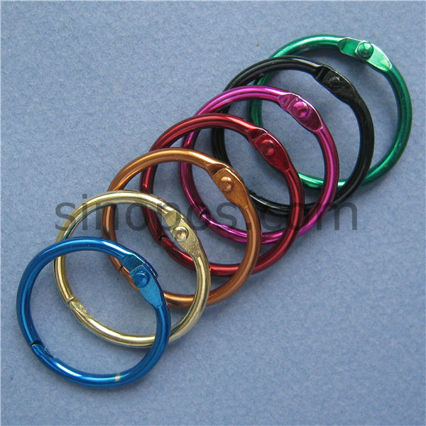 Aliexpress.com : Buy Steel Book Ring 25mm in Colors, Hinged Split ...