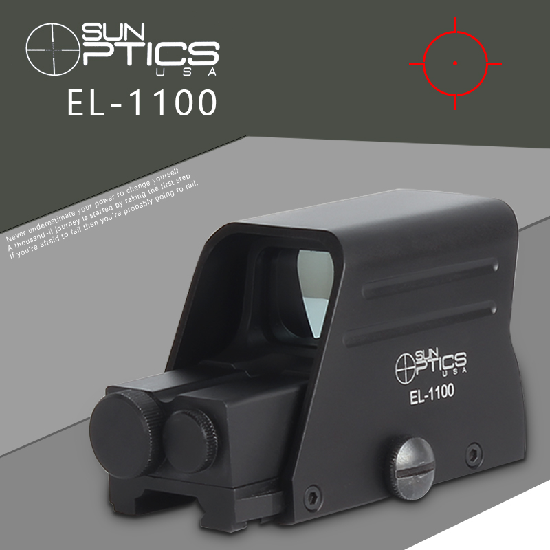 EL-1100 Holographic Red Dot Hunting Riflescopes Tactical Collimator Holographic Sight Optic Reflex Sight Black Tactical Gear