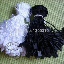 Высокое качество Черный и waite Висячие бирки веревки Висячие бирки шнур для одежды нанизывая цена висячая бирка или уплотнительная бирка