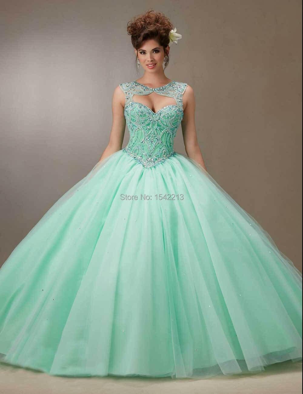 Popular Mint Green Quinceanera Dresses-Buy Cheap Mint Green ...