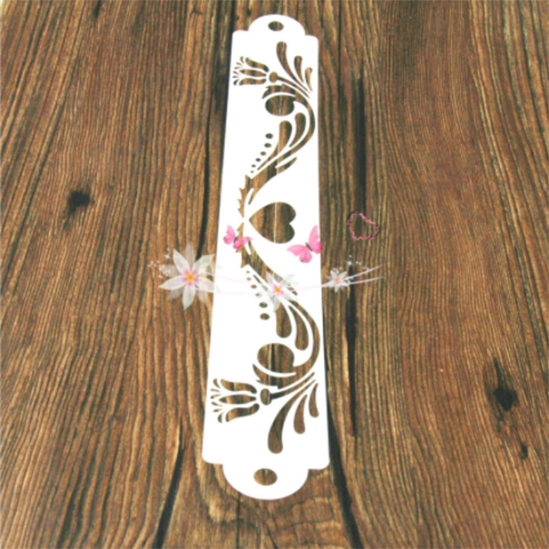 1PC Delicate Rose Flower Totem Shaped Reusable Stencil Airbrush Painting Art DIY Home Decor Scrap Booking Album Crafts