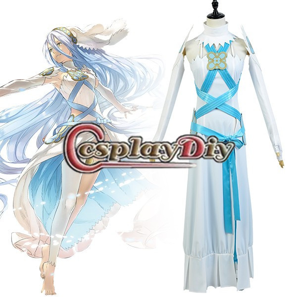 Cosplaydiy Aqua Fire Emblem If Fates Birthright Dress Costume Adult Women Halloween Carnival Cosplay Costume Custom Made