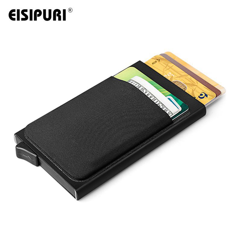 EISIPURI Men Aluminum With Back Card Holder Credit Card
