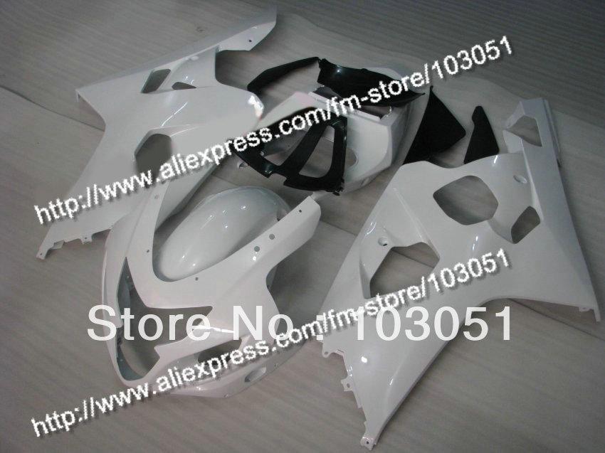 bodywork for SUZUKI 2004 GSXR 600 fairing K4 2005 GSXR 750 fairings 04 05 all glossy white DN24 пена монтажная mastertex all season 750 pro всесезонная