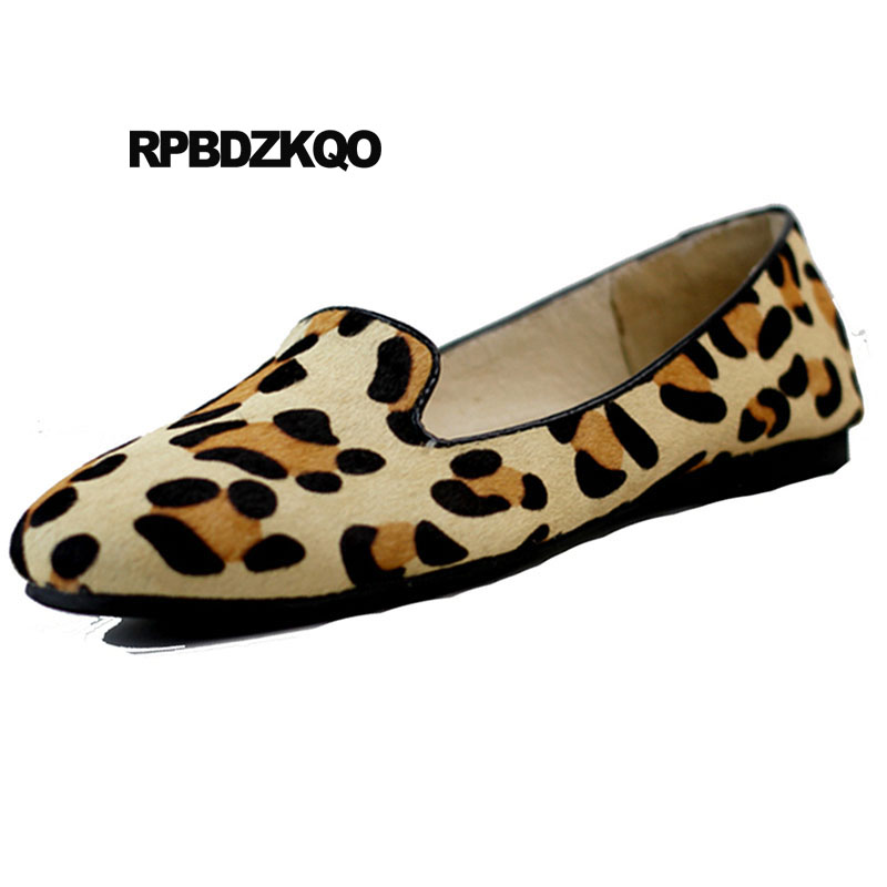 Walking China Ladies Beautiful Flats Shoes Korean Foldable Large Size Slip On Chinese Loafers Round Toe Roll Up Leopard Print fashion tassels ornament leopard pattern flat shoes loafers shoes black leopard pair size 38