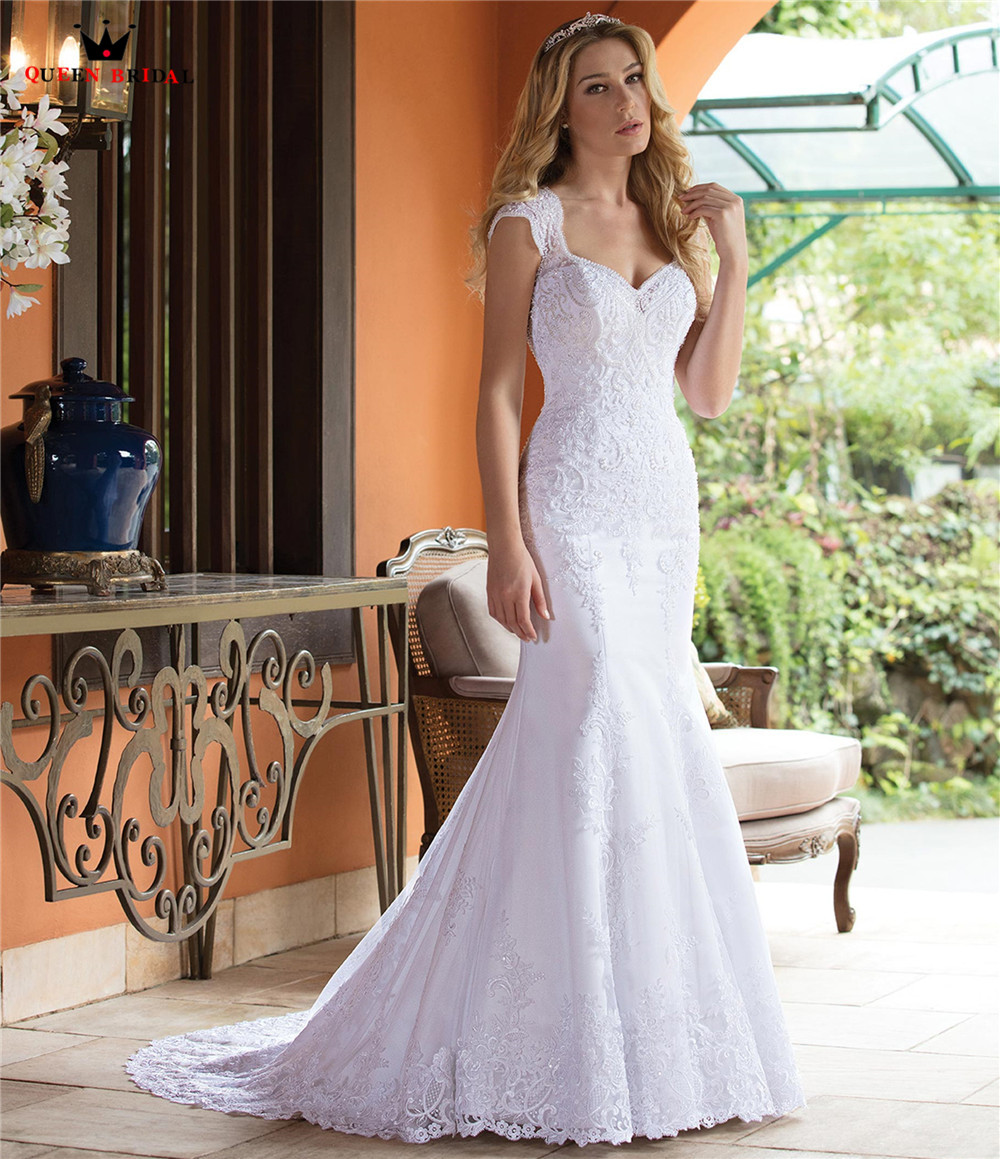 Custom Made Mermaid Sweetheart Tulle Lace Beading Appliques Luxury Sexy Wedding Dresses Vestido De Noiva 2019 New Design WH31