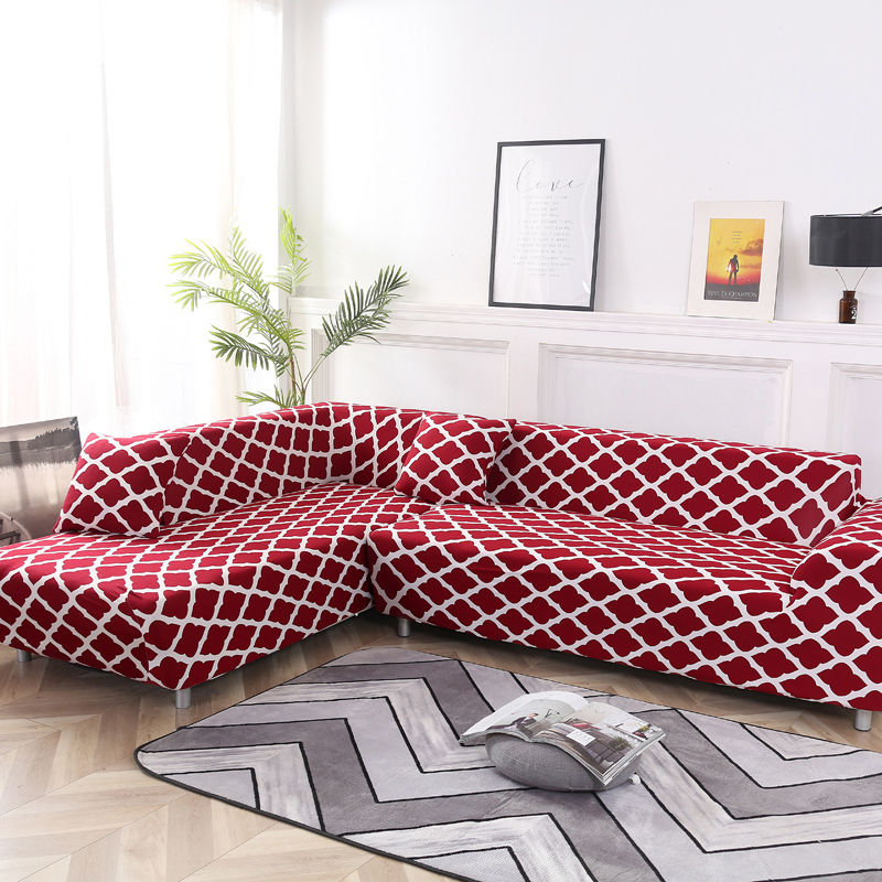 2 Piece Sofa Cover for L Shaped Corner Couch with Double Reinforcement Suitable for Living Room 4