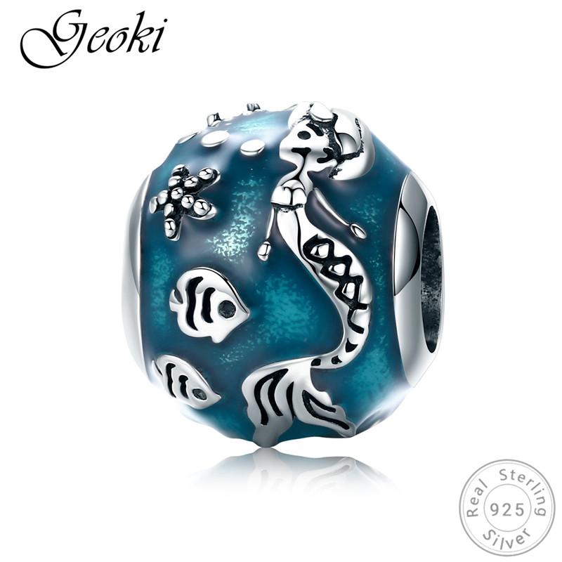 Jewelry & Accessories Geoki 925 Sterling Silver Blue Sea Mermaid&fish Beads Fit Pandora Bracelet Nordic Mythology Charms Original Jewelry Making Beads & Jewelry Making