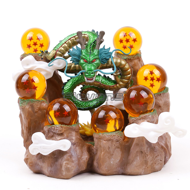 Dragon Ball Z Shenron & Mountain Stand & 7 Crystal Balls PVC Figure Collectible Model Toy Without Retail Box SetDragon Ball Z Shenron & Mountain Stand & 7 Crystal Balls PVC Figure Collectible Model Toy Without Retail Box Set