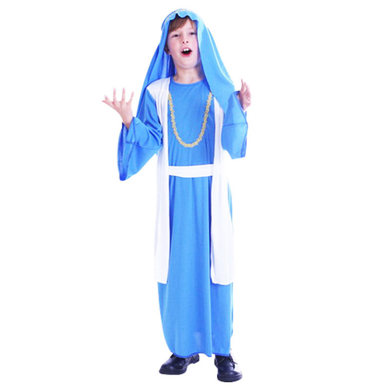 Umorden Halloween Boys Kids Children Arabian Little Prince Costume Cosplay Performance Blue Arabic Clothes Robe Arab Gown