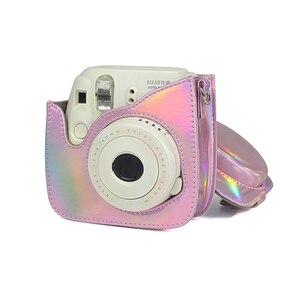 Image 4 - สำหรับ Fuji Fujifilm Instax Mini 9 MINI 8 8 + Protector สำหรับกรณีกระเป๋ากล้องทันทีเลเซอร์ Aurora อุปกรณ์เสริมการถ่ายภาพ