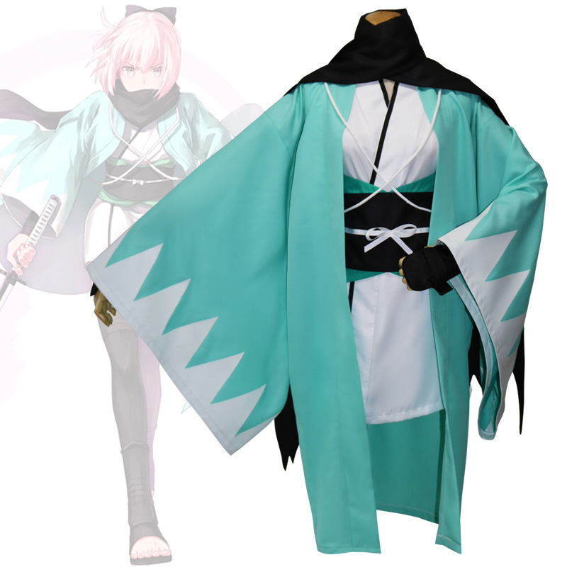 Okita Souji Cosplay Sakura Saber Arturia Pendragon Grand Order Fate Stay Night Costume Fate Saber Cosplay Okita Souji rolecos japanese anime fate stay night altria pendragon cosplay costume fate zero saber arturia pendragon cosplay costume