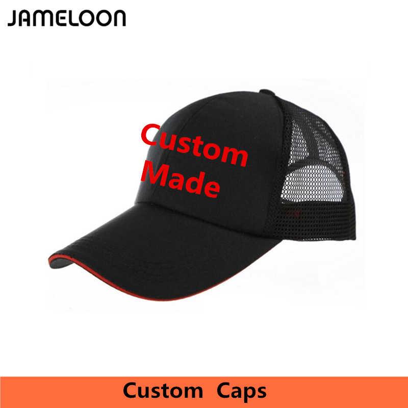 Custom Trucker Mesh Cap Embroidery Print Own Logo Sandwich Visor Baseball Caps  Customized Design Small Order d00bd840606f