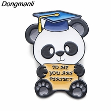 P3787 Dongmanli To Me You Are Perfect Panda Graduation Gift Enamel Pin,Valentines Day Gift,Brooches Badge apel Pin Jewelry