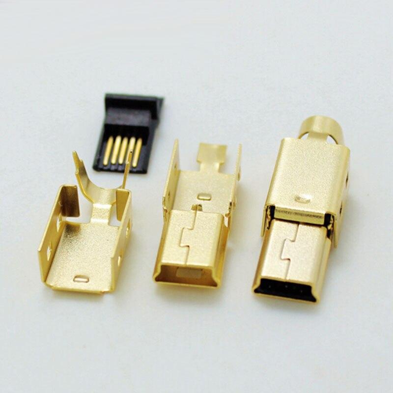⊱100 компл. высокое качество 3 в 1 <b>Mini</b>-USB позолота штекер ...