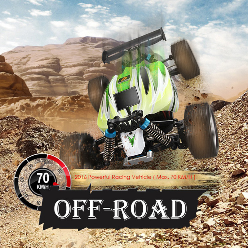 WLtoys A959 - B RC Cars 1 : 18 70km/h 4WD Off-road Vehicle Toy Car 2.4G 540 Brushed Motor High Speed RC Car A959 Updated Version mini rc car 1 28 2 4g off road remote control frequencies toy for wltoys k989 racing cars kid children gifts fj88