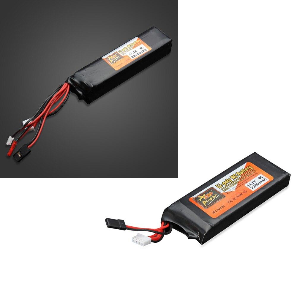1pcs High Quality ZOP Power 11.1V 2200MAH 8C Lipo Battery For FUTABA Transmitter/Devo JR transmitter wsx s04 11 1v 2200ma lipo battery for futaba kds jr fs walkera