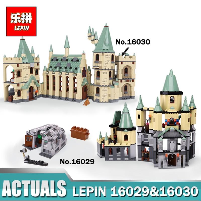 LEPIN 16029 16030 Hogwarts Castle School Building Blocks Set Building Blocks Bricks Toys Fit For Legoinlys 5378 4842 Movie Toys china brand 16029 educational bricks toys diy building blocks compatible with lego hogwarts castle 5378
