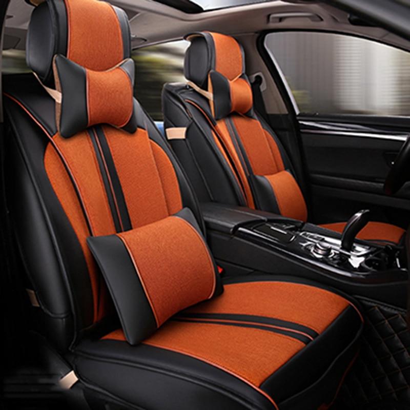 Универсальный Кожа Автокресло Чехлы для Audi A6L R8 Q3 Q5 Q7 S4 RS Quattro A1 A2 A3 A4 A5 A6 a7 A8 авто аксессуары наклейки