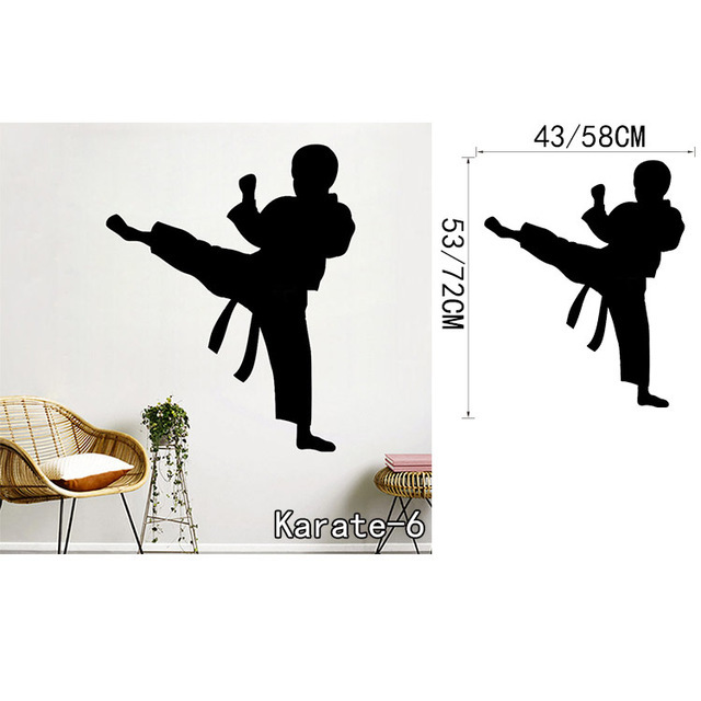 Karate Punch Pose And Personalized Karate Decal Custom Kids Namewall Decal Martial Arts Vinyl Sticker For Boys Room Decoration Stickers For Stickers For Boysvinyl Stickers Aliexpress