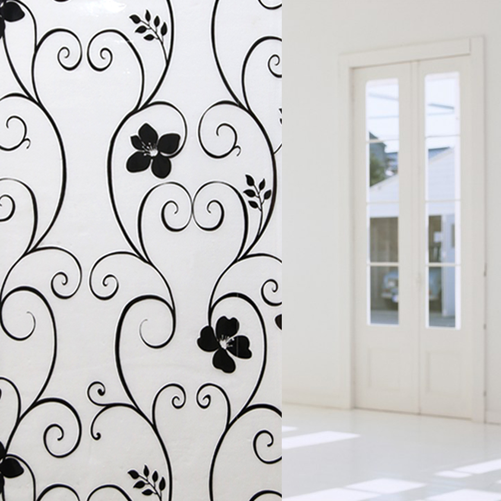 45 100cm Frosted Opaque Glass Window Film Privacy Stickers Home Decor