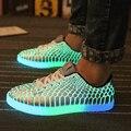 SYTAT Роскошные конструктор мужчины флуоресцентный свет обуви светящиеся корзина новый скейт обувь моделирование итальянский бренд chaussure lumineuse