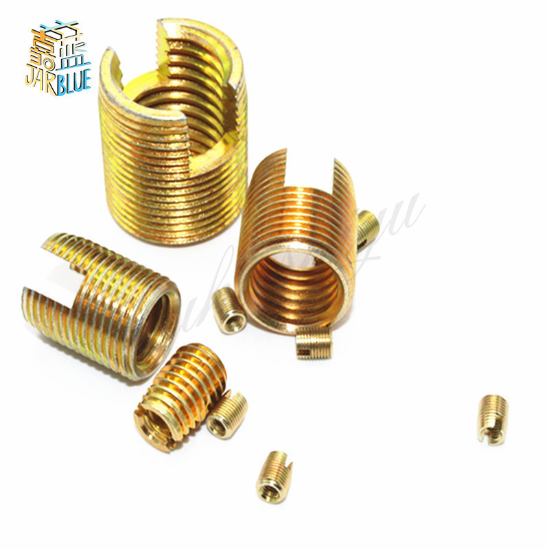 M6 M8 M10 M12 M14 M16 Self Tapping Insert/Self Tapping Screw Bushing/Steel With Zinc 302 Slotted Type Wire Thread Repair Insert