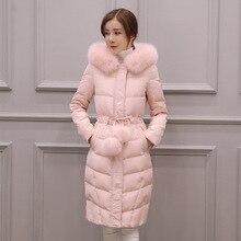 Fashion 2016 Women Winter Parkas Faux Fur Collar Ladies Slim Coats Winter Thick Warm Jackets Parka Female Outerwear Hot Sale