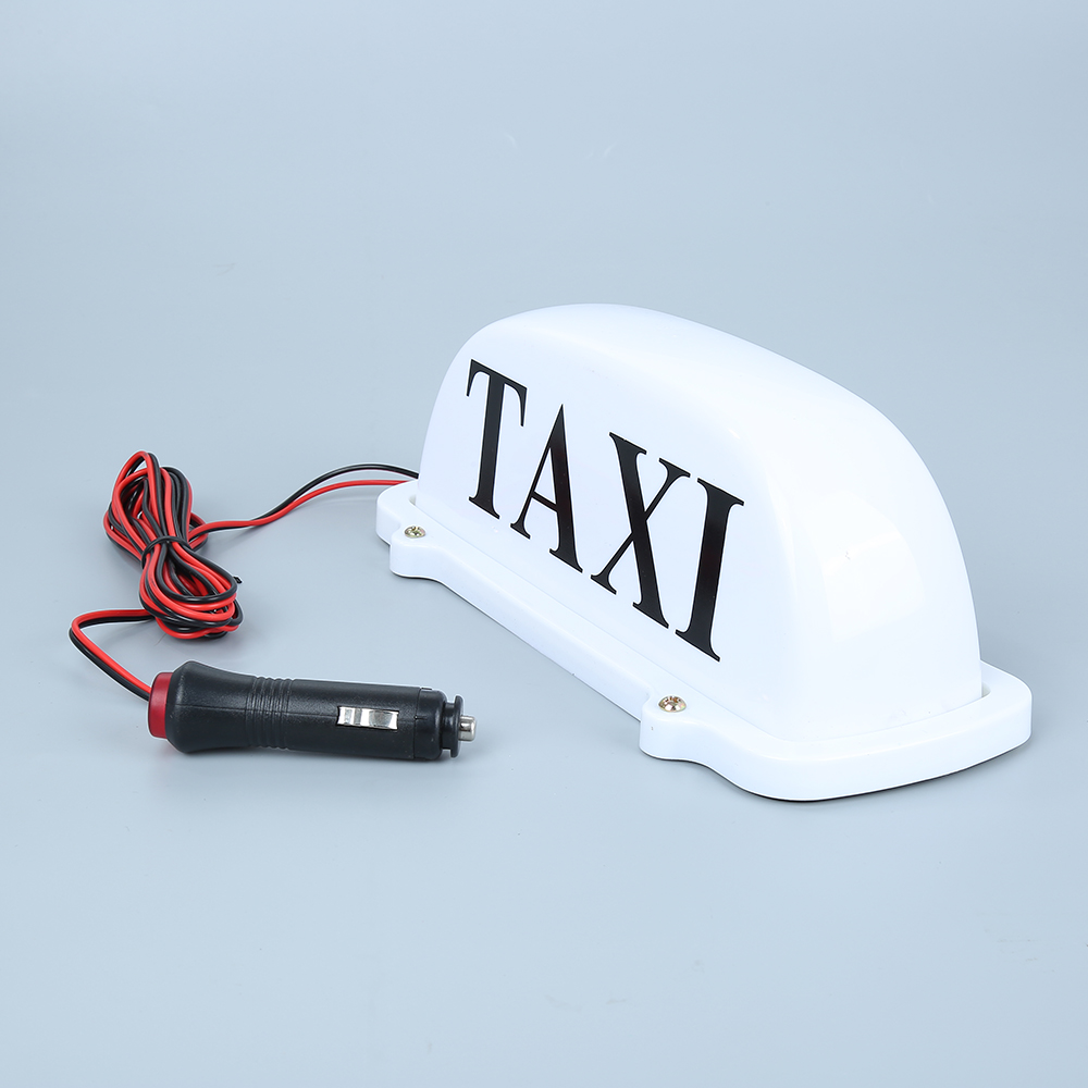 DC12V New LED Taxi Cab Top Sign Light Lamp Roof Magnetic LED Lighting Portable 12v taxi magnetic base roof top cab led sign light lamp with cigarette lighter