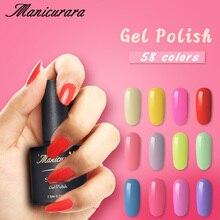 hot deal buy manicurara nail gel polish colorful soak off uv led gel nail polish glitter nail art gel top coat manicure nail art decorations