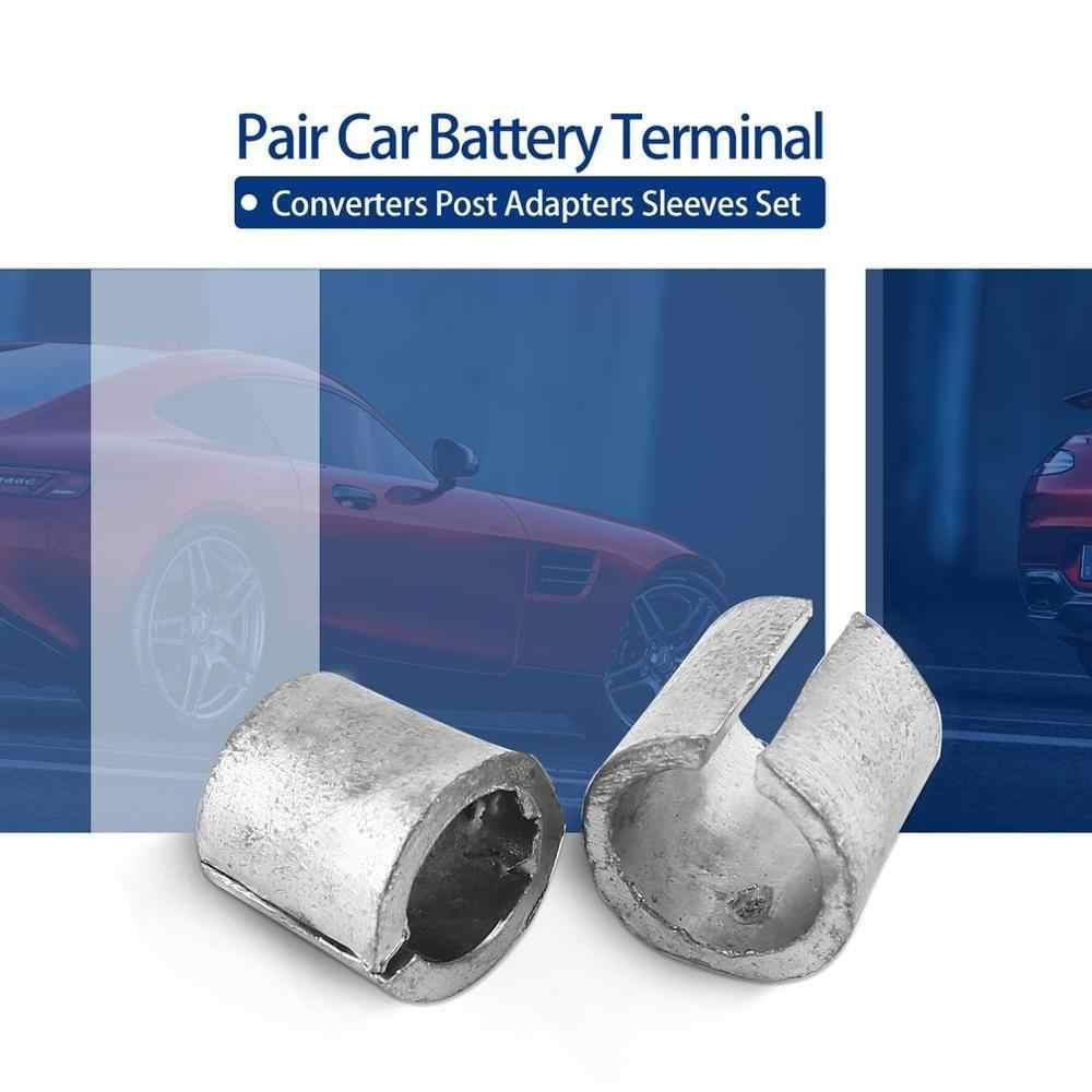 1Pair Car Battery Terminal Converters Post Adaptors Sleeves Set Battery Post Adapters Sleeves