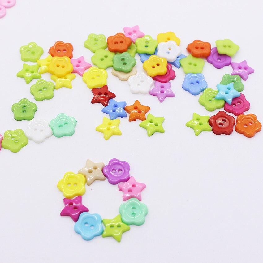 ᑎ‰Mezclado estrellas flores patrón acrílico Botones para ...