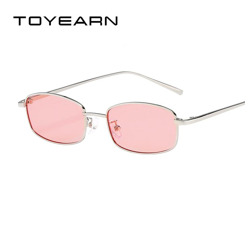 2019 New Fashion Small Square Sunglasses Women Brand Designer Clear Red Lens Eyewear Retro Men Sun Glasses For Female Male UV400