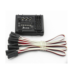 Mini Rc 3 Axis Gyro System Flight Controller Stabilizer Fixed Flying Wing Airplane FPV  Drive Module Piezoelectric Tail