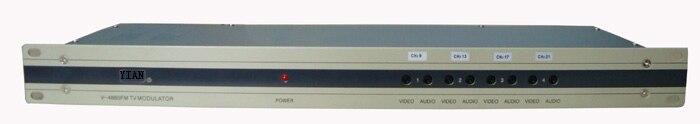 4 Way CATV Separate Frequency CATV Modulator for hotel/school/dormitory free shipping fmuser futv4443b 4 in 1 mux scrambling qam modulator optional 4 asi tuner in 4 rf out adapting catv system