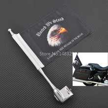 Luggage-Rack Flag Motorcycle-Eagle-Head-Pole GL1500 for 01-11 Goldwing Mast Vertical-Mount