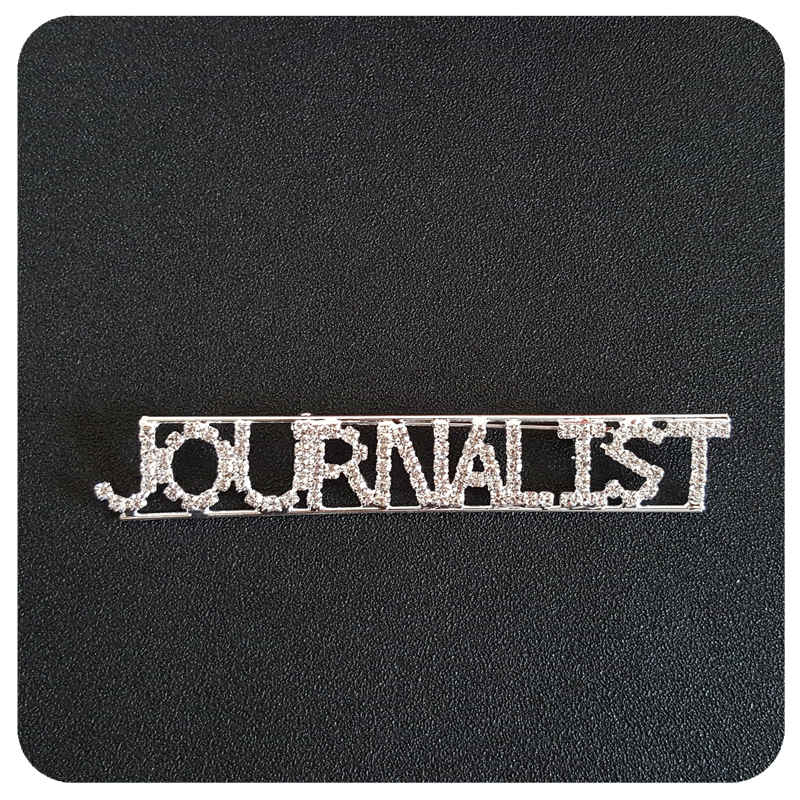 Profession Lapel Pin quot Journalist quot Brooch Jewelry Gift in Brooches from Jewelry amp Accessories