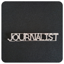 """Journalist"" Occupation Crystal Letters Womens Brooch"
