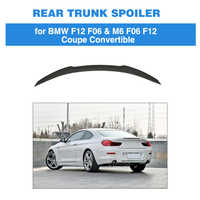 For BMW 6 Series F06 F12 Sedan Coupe 2012 - 2016 Trunk Lip Spoiler Carbon Fiber Rear Wing Boot Lid Not for F13