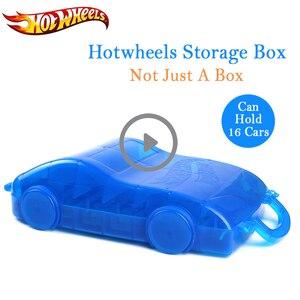 Hot Wheels Kid Toy Car Storage box 16pcs Cars Multi-function Portable Plastic Convenient Box Hotwheels Car Toy For Kid Gift