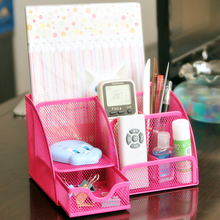 Fashion 5 cases desk top box combination stationery storage 22*14*12.5CM free shipping