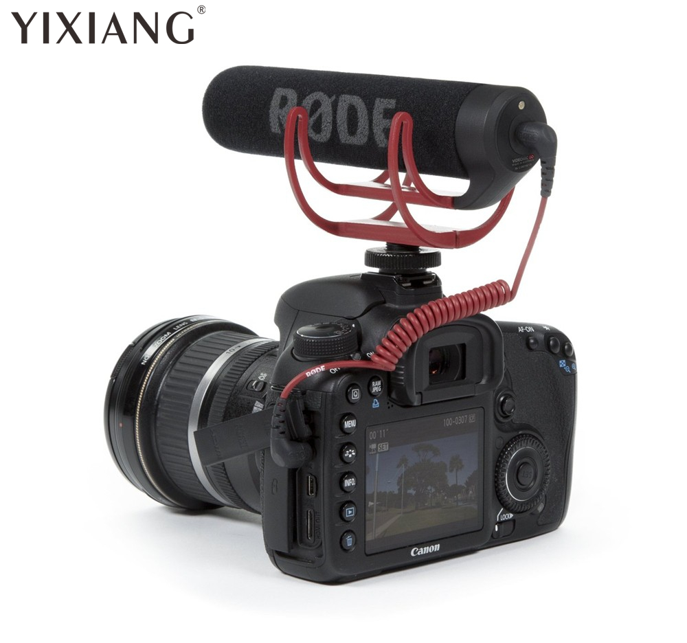 YIXIANG Camera Microphone RODE Go On-Camera Shotgun for Canon Nikon SLR Camera Mic VideoMic Go Video Microphone профессиональная цифровая slr камера nikon d3200 18 55mmvr