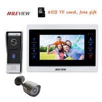 Free Shipping 720P AHD HD 10 Screen Video Door Phone Intercom Record System Outdoor Camera Motion