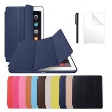 PU Deri iPad kılıfı Hava 2 A1566/1567 Mıknatıs Otomatik Uyku Standı Flip deri kılıf iPad hava 2 için 9.7 inç tablet kılıfı + Kalem