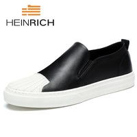 HEINRICH 2018 New High Quality Men Shoes Loafers Male Casual Shoes Black White Loafers Fashion Designer Shoes Men Schuhe